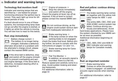 2006 bmw 325i warning lights 2006 bmw 325i warning symbols
