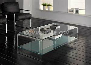 Table Basse De Salon En Verre : table basse de salon en verre rectangulaire table basse ~ Teatrodelosmanantiales.com Idées de Décoration