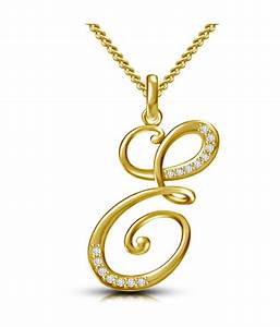 buy kataria jewellers letter e gold plated 925 bis With letter e pendant gold