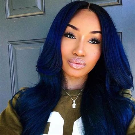 50 Awesome Blue Black Hair Color Looks Trending In May 2020