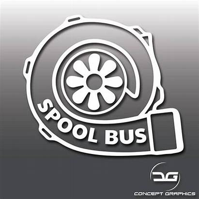 Bus Turbo Sticker Spool Decal Funny Boost