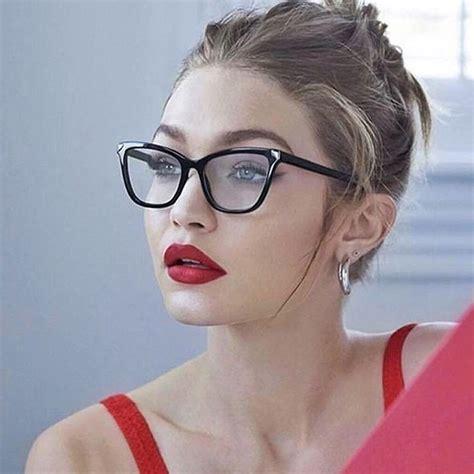 anedf  ladies cat eye glasses frames women blue pink