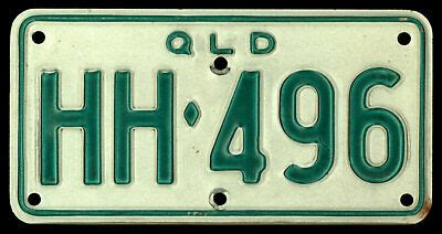 The staged approach to getting your driver's licence, including new rules for p plates. QUEENSLAND QLD AUSTRALIA Motorcycle License/Number Plate #HH-496 (circa 1990 ?) | eBay