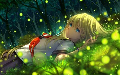 Hd Wallpaper Anime - anime anime grass wallpapers hd desktop and