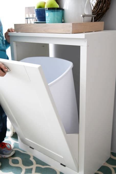 diy trash cans  cabinets   home