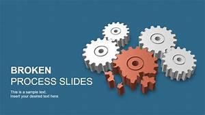 Access Templates 2007 3d Broken Process Powerpoint Template Slidemodel
