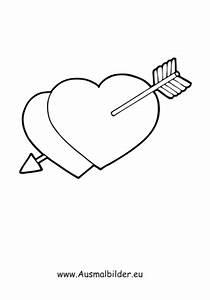 Herzen Zum Ausmalen : ausmalbilder herzen mit pfeil valentinstag ausmalbilder ausmalen ~ Buech-reservation.com Haus und Dekorationen