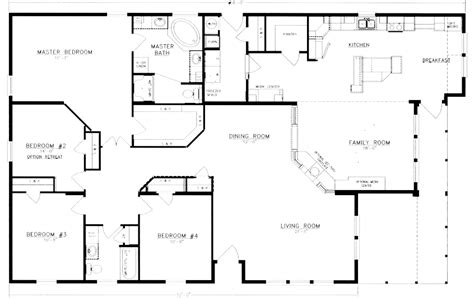 2 house plans with 4 bedrooms floor plans and