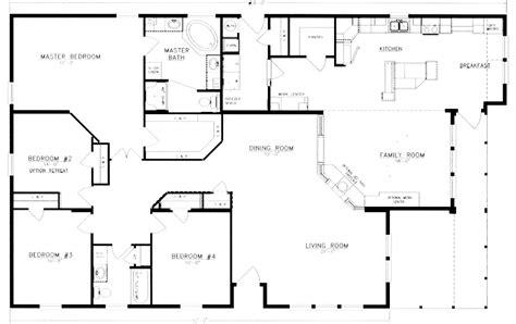 4 bedroom floor plan floor plans and