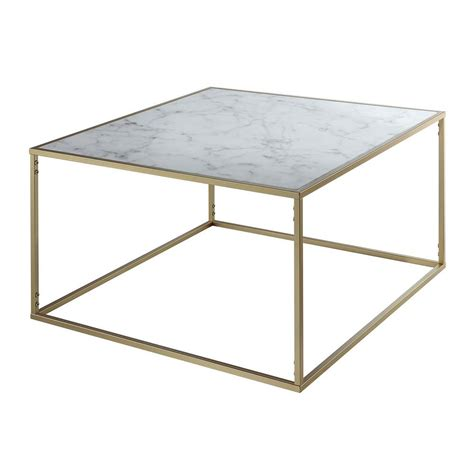 faux marble table l convenience concepts gold coast faux marble and gold