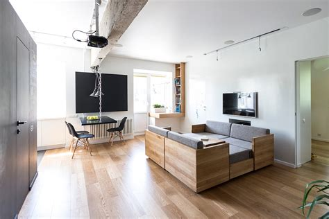 4 Small Apartments Showcase The Flexibility Of Compact Design : Aménagement Appartement Avec Des Meubles Modulables