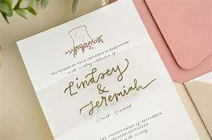 4 ways to diy elegant vellum wedding invitations cards With wedding invitation vellum bands