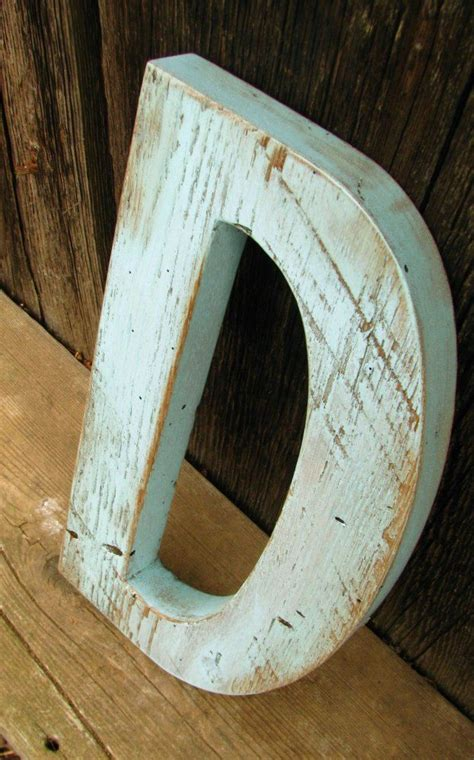 distressed wood letters barn wood letter painted distressed 12 quot sea blue