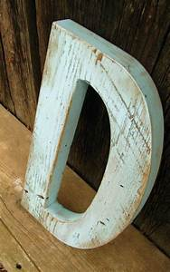 barn wood letter painted distressed 12quot sea kiss blue With distressed letters