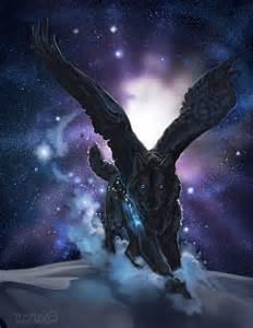 Galaxy Wolf Anime Wings