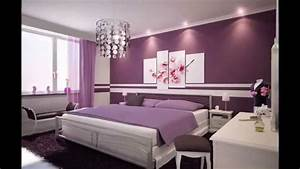 photos de decoration chambre violet youtube With exemple de decoration maison