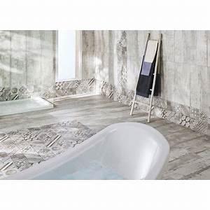 carrelage castel patchwork gris 30 x 60 cm carrelage With carrelage adhesif salle de bain avec grossiste de led