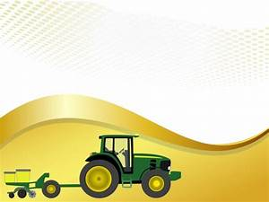 This free Farm tractor with planter PowerPoint Template is ...