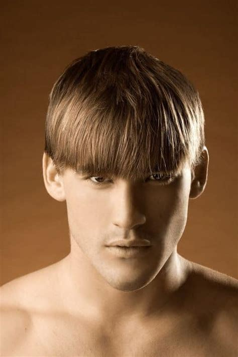 create mens bowl cut hairstyle   fancy