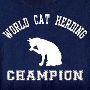 World Cat Herding Champion T-Shirt in Cotton at Wireless