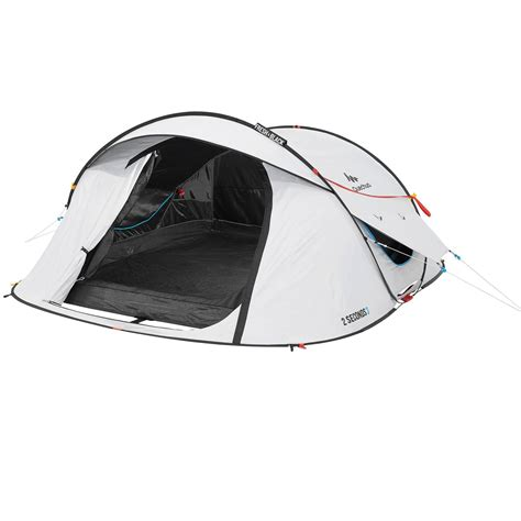 tente 2 chambres 2 seconds fresh black 3 person cing tent white quechua