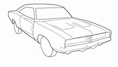 Charger Dodge Coloring Pages 1969 Drawing Printable
