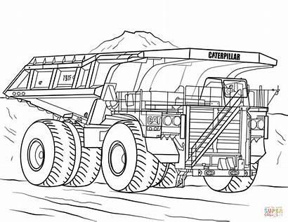 Coloring Truck Pages Caterpillar Mining Dump Trucks