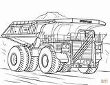 Coloring Truck Pages Caterpillar Mining Drawing Printable sketch template