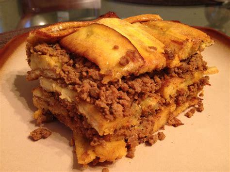 pastelon plantain beef casserole