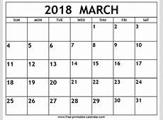 March 2018 Calendar Kalninary in templates and printable