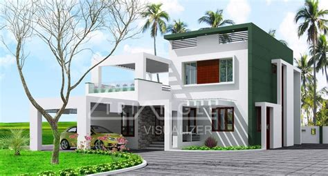 Low Cost Contemporary Kerala Home Design At Sq.ft