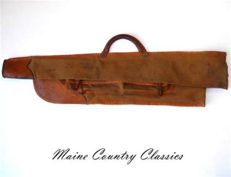 Vintage CANVAS & LEATHER TAKE DOWN GUN CASE Winchester
