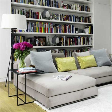 Small Living Room With Library Design  Home Conceptor