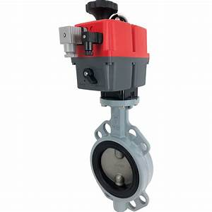 4 U2033 Electric Actuated Butterfly Valve  Wafer  Epdm  24