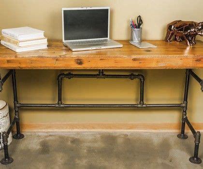 reclaimed pipe desk   industrial pipe desks