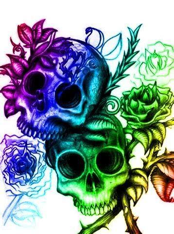 Rainbow Skulls Pictures Images Photos