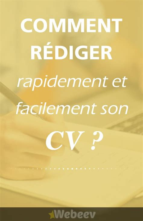 Comment Rediger Cv by 17 Best Ideas About Comment Rediger Un Cv On