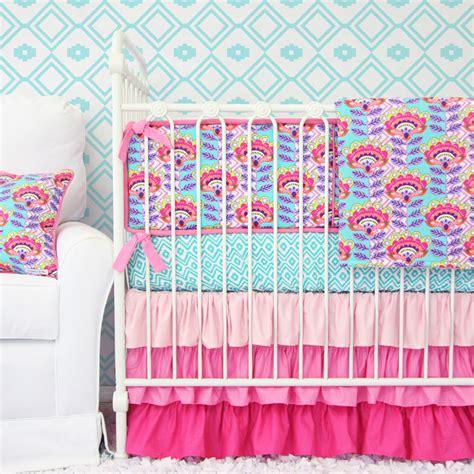 aztec crib bedding avery s aztec crib bedding set by caden
