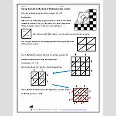 Lattice Method Of Multiplication Worksheets