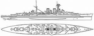 Navy Ship  Diagram Of Battleship Hms Hood
