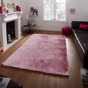 tapis rose a poils longs 120x170cm toodoo tapis shaggy With tapis de salon rose