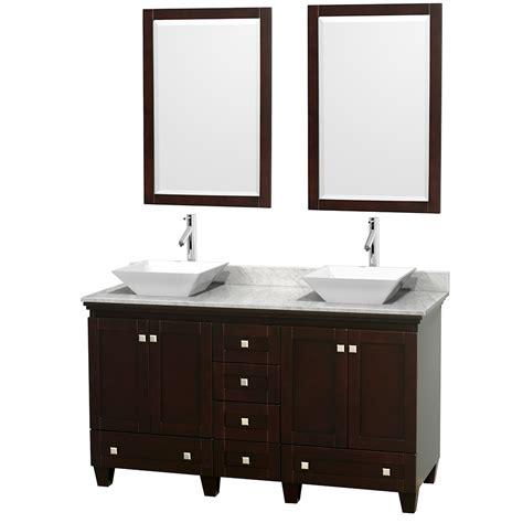 white 60 inch vanity wyndham collection wcv800060descmd2wm24 acclaim 60 inch
