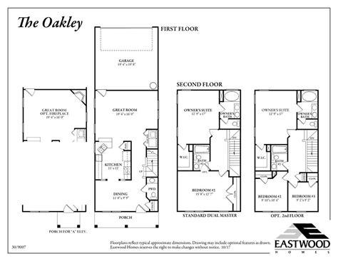 oakley floor plan griffin park eastwood homes