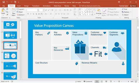 editable business canvas templates  powerpoint
