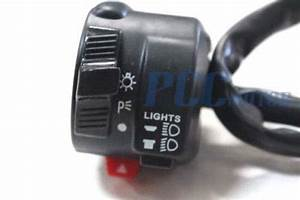 6 3 Pins Atv Quad Scooter Moped Gy6 Ignition Kill Switch Light Starter Ks53