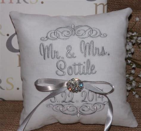 ring bearer pillow mr mrs ring pillow wedding pillow