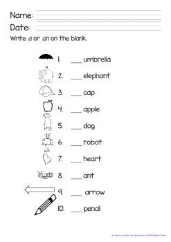 a and an worksheets for preschool articles a and an worksheet by preschool teachers 702
