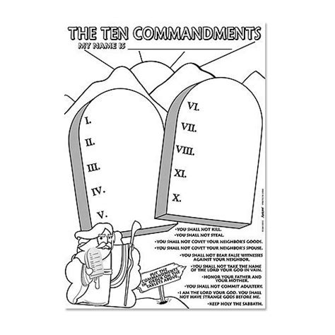 catholic  commandments coloring coloring pages