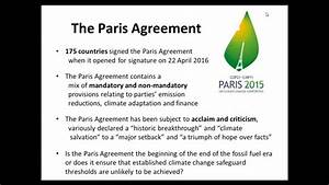 webinar The Paris Climate Change Agreement and its ...