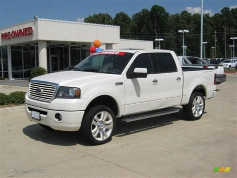 ford truck white 2008 white sand tri coat ford f150 limited supercrew 4x4